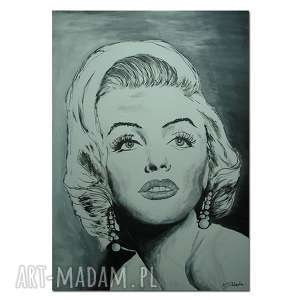 obrazy obraz ręcznie malowany marylin monroe 70x50cm na płótnie