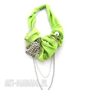 LIMONCINI naszyjnik handmade, naszyjnik, kolia, łańcuch, limonka, neon, zielony