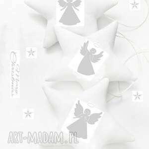 angels #1 - gwiazdeczki do zawieszenia, święta, choinka, anioł, gwiazdki
