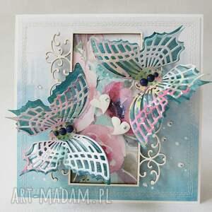 Kolorowe motyle, ślub, mama, życzenia, gratulacje
