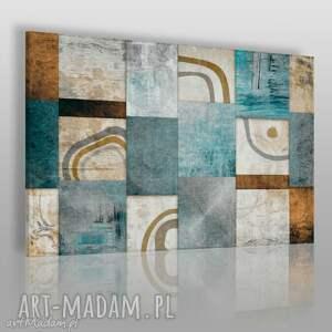 obraz na płótnie - abstrakcja mozaika 120x80 cm 13901, nowoczesny