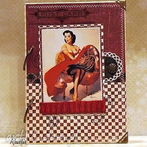 notesy notes/pamiętnik vintage pin up girl -rezerwacja dla pani aleksandry