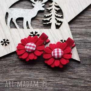 spinki do włosów kwiatki, spinki, świąteczne, prezent
