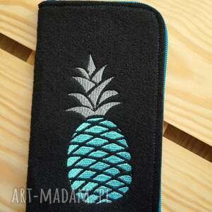 filcowe etui na telefon - ananas, smartfon, pokrowiec, futerał, prezent