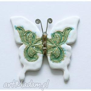 motyl biały, motyl, ceramika ceramika