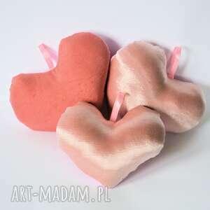 Komplet serc - pudrowo różowe , serce, zawieszka, dziewczynka, pokoik, dziecka