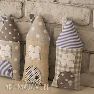 Domki dekoracyjne, bawełna, zawieszki, zawieszka, ozdoba, dekoracja