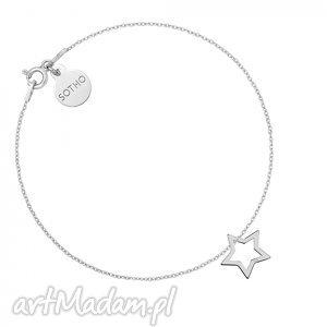 hand made bransoletki srebrna bransoletka z gwiazdką
