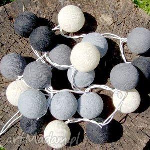 qule lampki cotton balls light wiosenne, cotton, ball, lights, kule