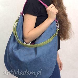 ręcznie zrobione torebki hobo xxl true colors - rainbow;-)