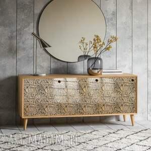handmade dekoracje different geometry - modna komoda 3 drzwiowa loft w stylu mid century