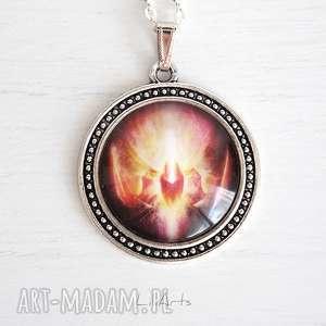 naszyjniki medalion, talizman - odwaga duży, naszyjnik