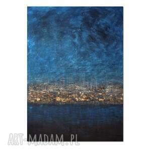 dark skies 2, abstrakcja, obraz ręcznie malowany 100/150 cm, obraz, abstrakcja
