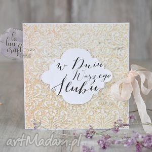 w dniu waszego ślubu, kartka, ślub, ślubna, karnet, życzenia unikalny prezent