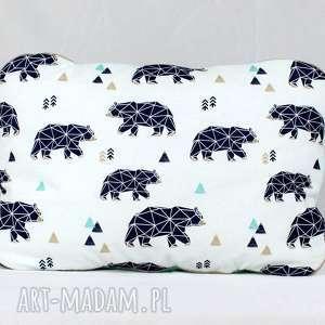 nuvaart poduszka niedźwiedzie geometryczne, poduszka, przedszkolaka