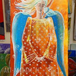 Anioł marzeń marina czajkowska anioł, marzenia, obraz,