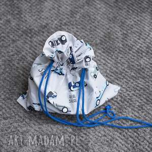 maart woreczek podróżny na bieliznę, bawełna, dla dziecka, chłopiec, autka