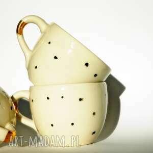 kubki kubek jumbo dalmatyńczyk - porcelit i złoto, porcelana, herbata, kawa