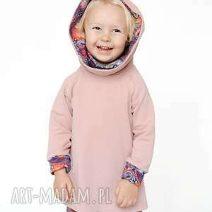 mamaiti bluza dla dziecka z komino-kapturem orient fiolet 80/86, 92/98, 104/110