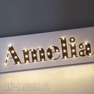 Prezent NAPIS LED imię personalizowany obraz dekoracja lampa prezent na urodziny 18