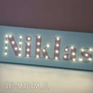 obraz z imieniem napis led personalizowana dekoracja lampa prezent na urodziny