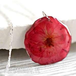 ręczne wykonanie naszyjniki 925 naszyjnik medalion ♥ róża damascena