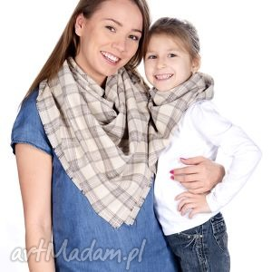 bukiet-pasji komplet chusta mama i córka - dziewczynka, jesienna