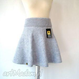 ręczne wykonanie spódnice spódnica z koła jasnoszara i inne kolory