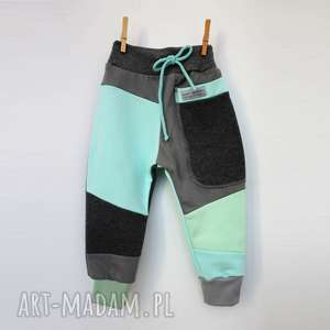 Mimi Monster? PATCH PANTS spodnie 74 - 104 cm grafit &