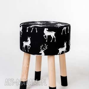 dom podnóżek fjerne m czarny jeleń czarne skarpetki, podnóżek, drewno, stołek