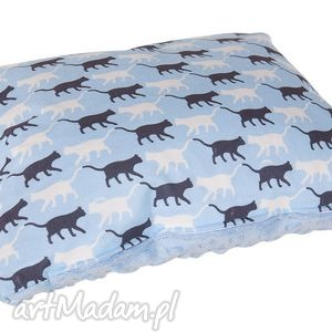 Kolorowa poszewka na poduszkę Minky suwak 30x40 pos-3005, miękka, minky, kotek