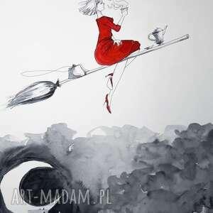 adriana laube art herbata w drodze akwarela artystki adriany - obraz