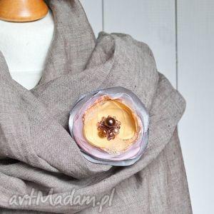 modna broszka kwiat, przypinka, prezent - broszka, broszki, przypinka, elegancka, modna