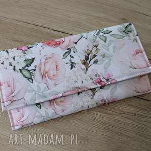 kopertówka - różany ogród, elegancka, nowoczesna, kwiaty, wesele, prezent