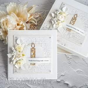 ręczne wykonanie scrapbooking kartki kartka na chrzest lub narodziny