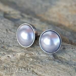 Kolczyki srebrne Drobineczki perła B773, kolczyki, perła, oryginalne,