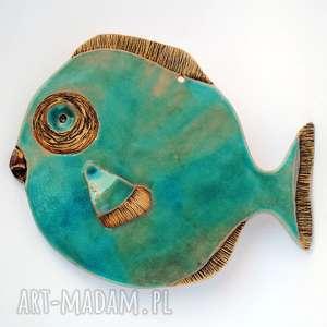 hand-made ceramika średnia blues