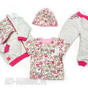 Prezent SAFARI komplet dla dziewczynki, zestaw ubrań dziecka, na jesień, prezent