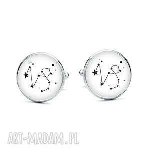 Laluv - spinki do mankietów z grafiką znak zodiaku koziorożec, gwiazdy, horoskop