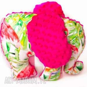 słoń flamingi fuksja - słoń, przytulanka, zabawka, dziecko