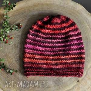 czapki kolorowa czapka, czapki, wełna, nadrutach, jesienna