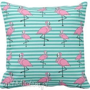 Poszewka na poduszkę dziecięca kolorowe flamingi 3051, poszewka, flamingi, kolorowa