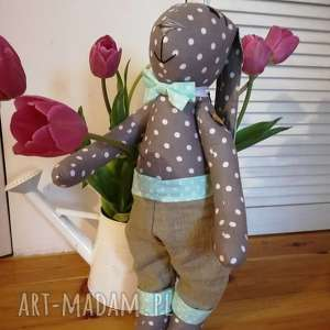 królik dla chłopca 60cm, chłopiec, urodziny, narodziny maskotki