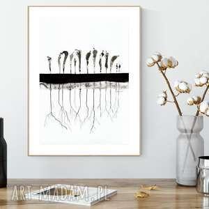 Obraz 30 x 40 cm malowany ręcznie, minimalizm art krystyna siwek