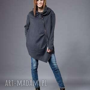 bluza ashmita asymetryczna, luźna, duże rozmiary, na zamek