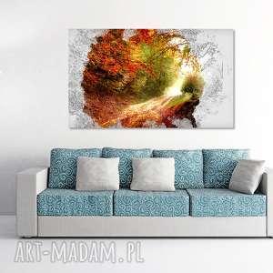 obraz drzewo 44 - 120x70cm na prezent abstrakcja leśna ścieżka droga