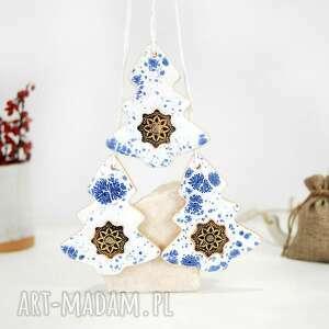 Święta prezent? 3 ceramiczne choinki świąteczne - modern