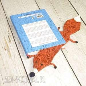 Prezent Lis - zakładka do książki, lisek, książka, czytanie, zwierzęta,