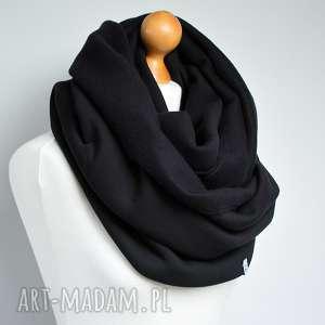 kominy modny komin dresowy czarny bawełniany, komin, szalik, otulacz, zawijany