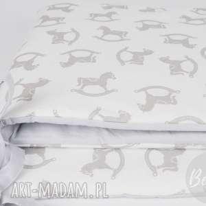 pokoik dziecka ochraniacz do łóżeczka konik na biegunach, ochranicz-do-łóżeczk